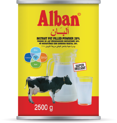 Alban tin Instant fat filled powder Alpha group