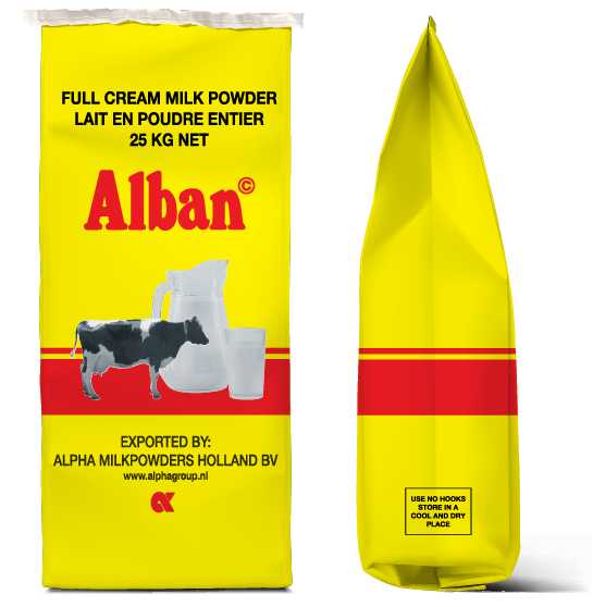 Alpha Alban bag Milkpowders
