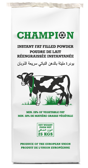 Champion instant fat filled powder