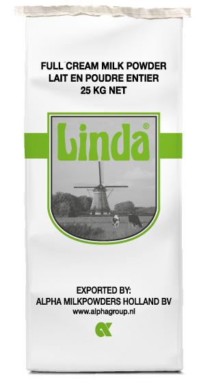 Full cream milkpowder Linda green