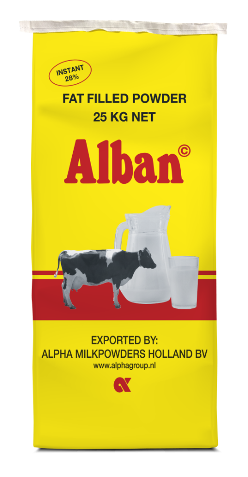 Fat filled powder 25 kg bag Alban Netherlands