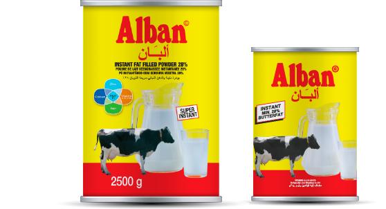 Milkpowders tin Alban