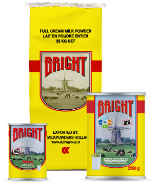 Bright full cream milk powder Alpha Milkpowders